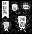 coffee trendy set vector image