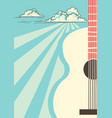 country music poster with musical instrument vector image