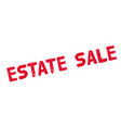 estate sale rubber stamp vector image vector image