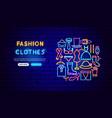 fashion clothes neon banner design vector image