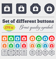 First aid kit icon sign Big set of colorful