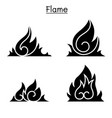 flame fire burn graphic design vector image