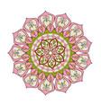 floral mandala color decoration bohemian vintage vector image vector image