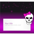 Funny background with angry skull vector image vector image