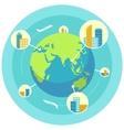 global business design concept vector image