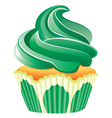 green cupcake vector image vector image