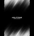 halftone dots pattern frame vertical background vector image vector image