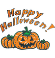 Halloween background doodle pumpkin vector image vector image