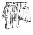 hand drawn wardrobe sketch baby clothes on vector image vector image