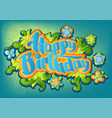 happy birthday greeting card 4 vector image vector image