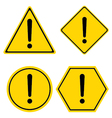 Hazard warning sign Triangle hexagon square and vector image
