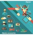 hipster corner set vector image vector image