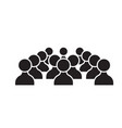human resources people black concept icon vector image