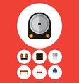 icon flat appliance set of diode spool vector image vector image