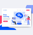 landing page template deep learning concept vector image vector image