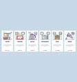mobile app onboarding screens kitchen appliances vector image