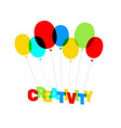 multicolor creativity business word lettering vector image vector image