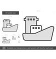 Oil tanker line icon vector image vector image