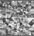 polygonal gray gradient abstract triangle vector image vector image