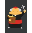 Priest with cross vector image