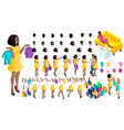 quality isometry pregnant african american girl vector image vector image