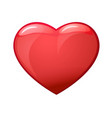realistic red valentine heart vector image vector image