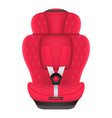red child car seat with stars isolated on a white vector image vector image
