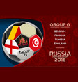 russia world cup design group g vector image vector image