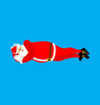 santa claus sleeps isolated rest before work vector image vector image