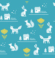 scandinavian seamless folk art hand drawn pattern vector image vector image