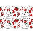 seamless pattern christmas ornament vector image vector image