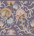 seamless pattern with stylized flowers and plants vector image vector image
