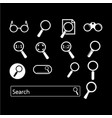 search icon design vector image