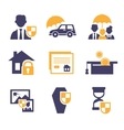Set Insurance Icons vector image