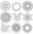 set of different colors and floral patterns vector image vector image
