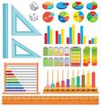 set of math element vector image