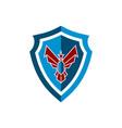 shield eagle power guard protection logo icon vector image vector image