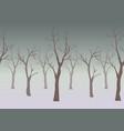 silhouette of dar trees on subtle gloomy vector image
