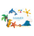 summer time objects set vector image