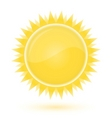Sun weather forecast glossy icon vector | Price: 1 Credit (USD $1)