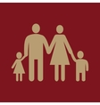 The family icon Family symbol Flat vector image