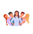 togetherness friendship unity concept vector image vector image