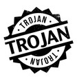 trojan rubber stamp vector image vector image