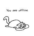 upset cat tik lies in tears vector image vector image