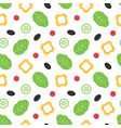 vegetables for salad seamless pattern vector image vector image