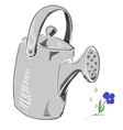 Watering can cartoon icon vector image vector image