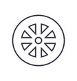 wheel line icon sign on vector image vector image