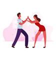 young people dancing samba on brazil dance disco vector image vector image