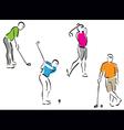 golf men set vector image