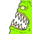 green monster face vector image